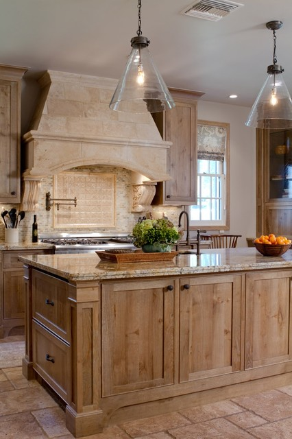 Charmean neithart interiors llc traditional kitchen for Bleached maple kitchen cabinets