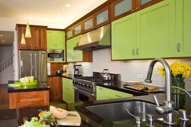 Chartreuse Kitchen Contemporary Kitchen San