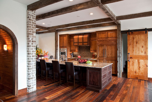 From Rustic To Chic 15 Kitchens With Barn Door Accents