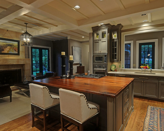 Countertop Kitchen Design Ideas, Remodels & Photos with Gray Cabinets