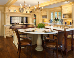 Cheerful Formality traditional kitchen