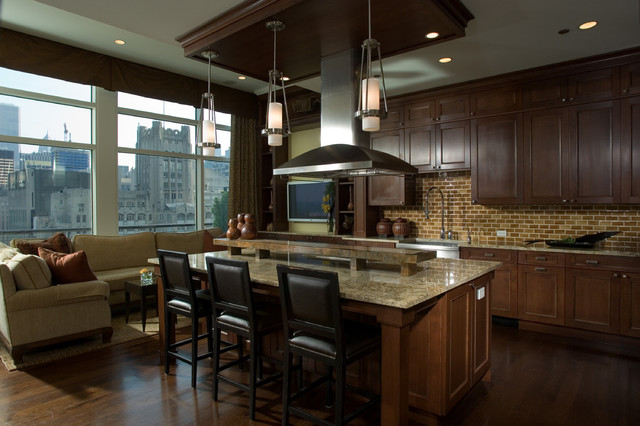chef 39 s kitchen contemporary kitchen chicago by fredman design group. Black Bedroom Furniture Sets. Home Design Ideas