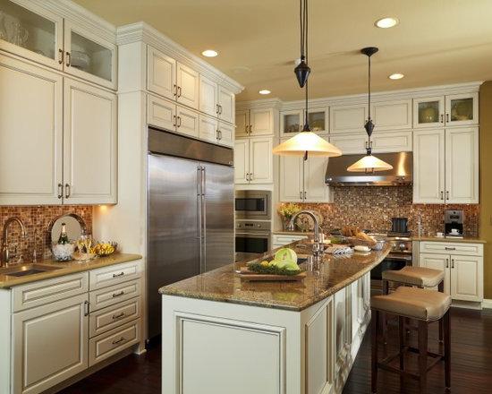 Countertop Microwave Bisque Color : Almond Kitchen Design Ideas, Remodels & Photos