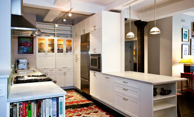 kitchen nyc west village loft luxury renovation contemporary kitchen