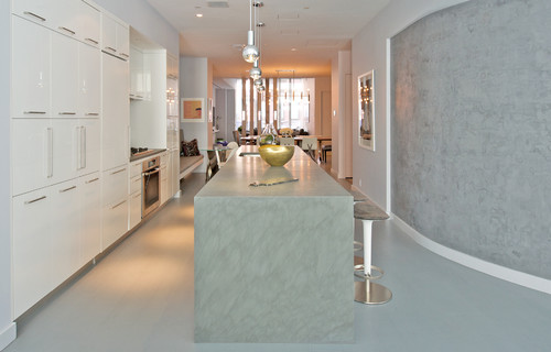 Contemporary porcelain kitchen countertops