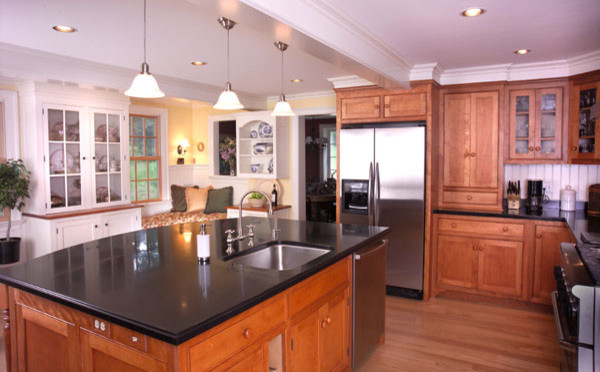 Cherry cabinetry with beaded inset doors traditional-kitchen