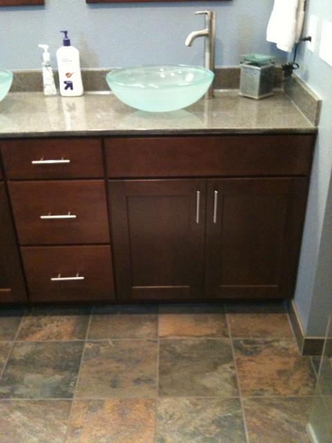 Cherry  Cabinets | Shaker Door Style | CliqStudios contemporary-kitchen