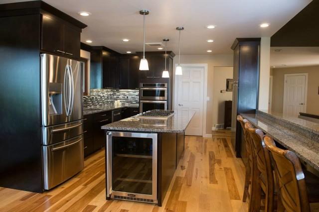 Modern Dark Kitchen Transitional Kitchen Other By