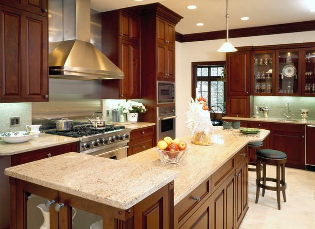 Cherry Chestnut - Traditional - Kitchen - Chicago - by ...