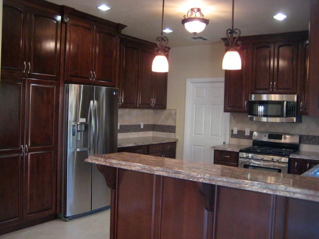 Cherry-colored Maple Kitchen contemporary-kitchen