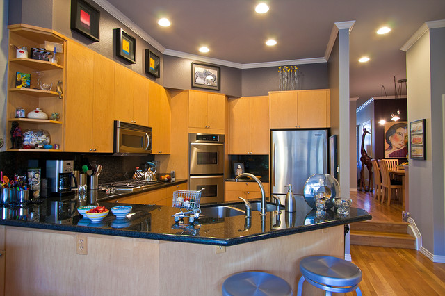 Cherry Creek Chic Contemporary Kitchen Denver By Sheri Kaz Designs