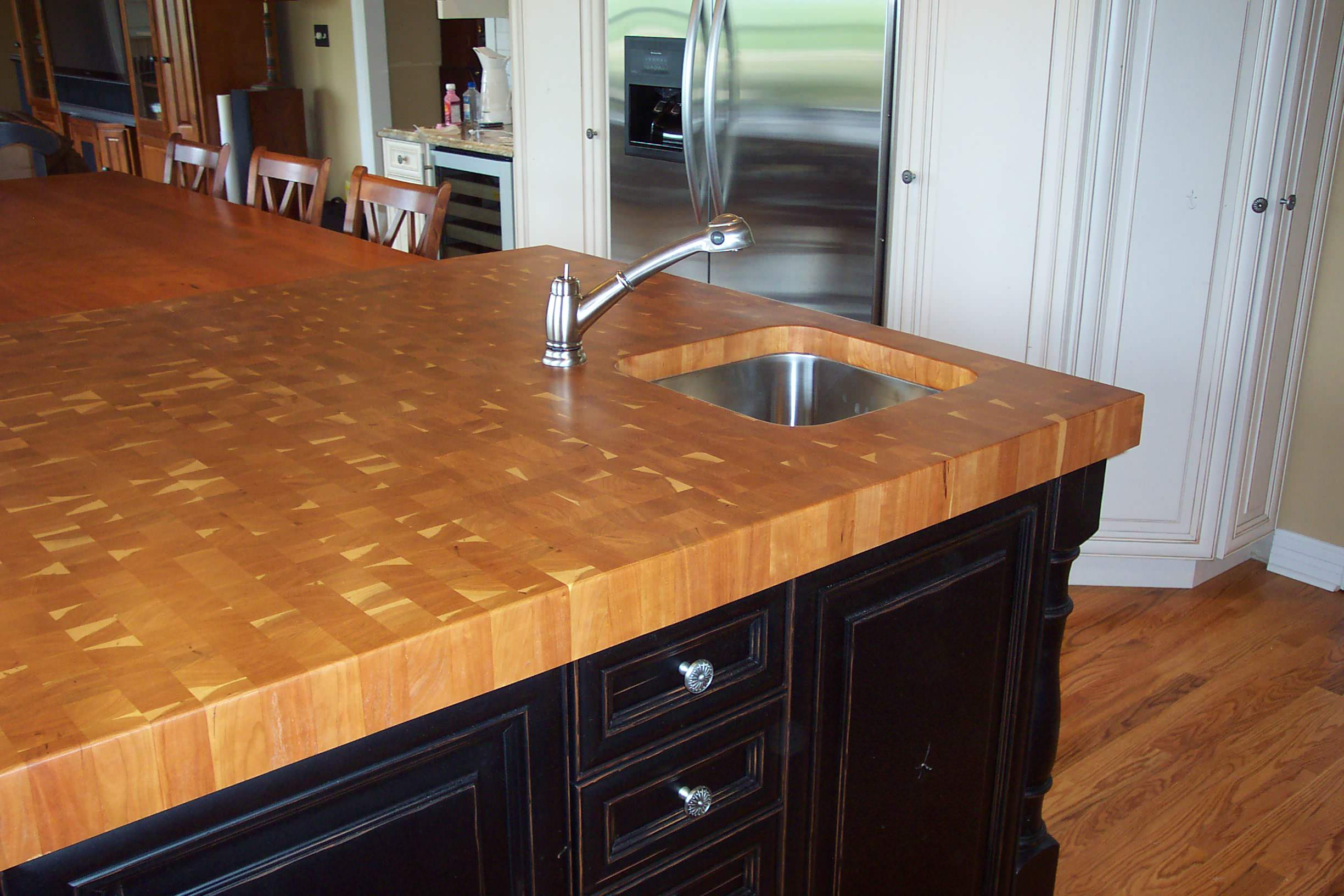 Cherry end grain island Counter tops