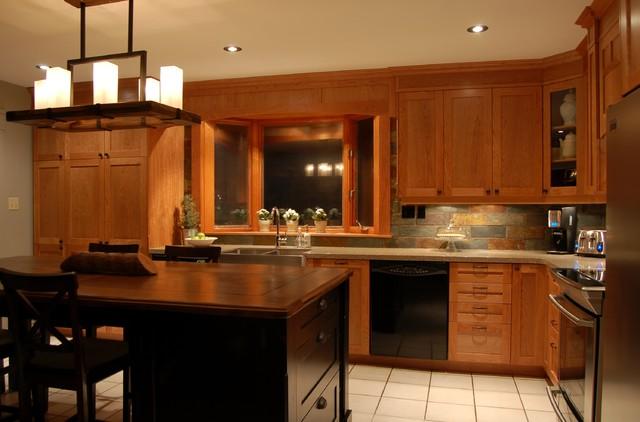 cherry traditional-kitchen