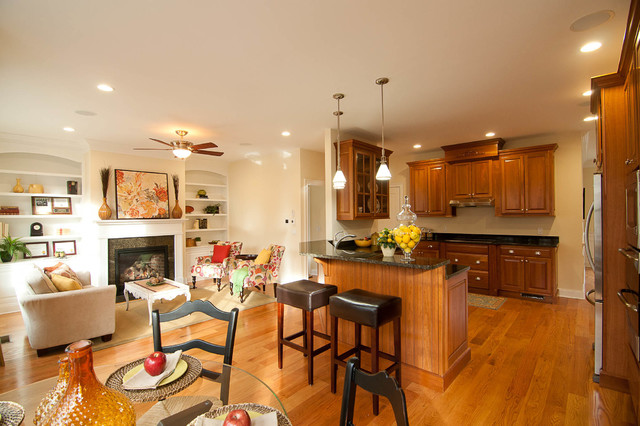 cherry kitchen keeping room. Black Bedroom Furniture Sets. Home Design Ideas