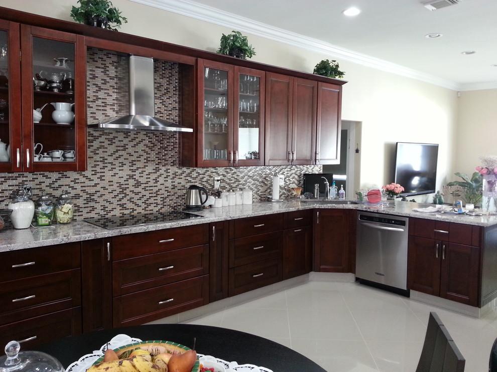 Cherry Kitchen Cabinets - Contemporary - Kitchen - Miami ...