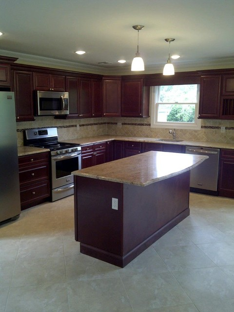 Kitchen Cabinets Cherry Glaze Door Style Kitchen Cabinet Kings