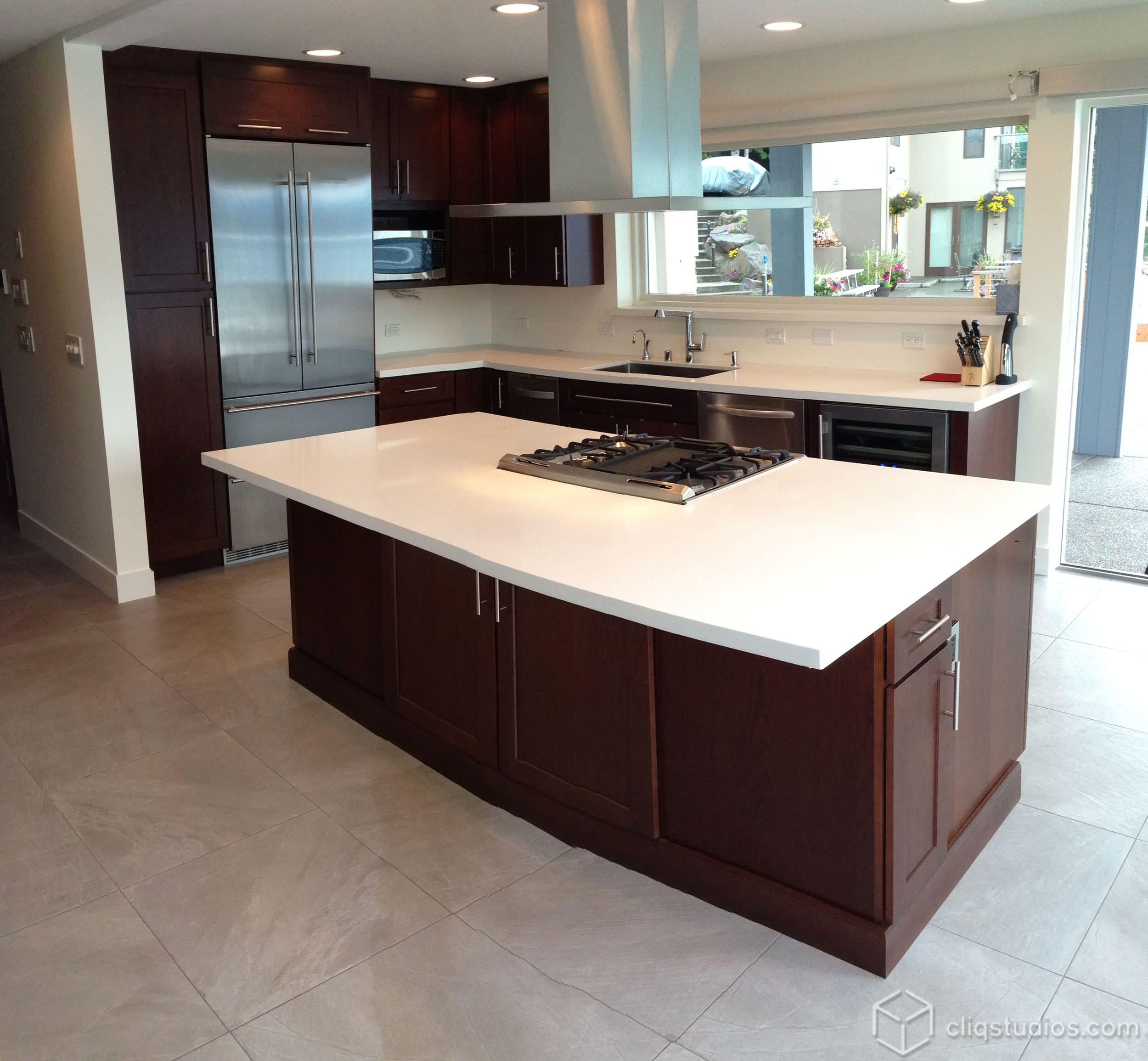 Modern Cherry Kitchen Cabinets Houzz