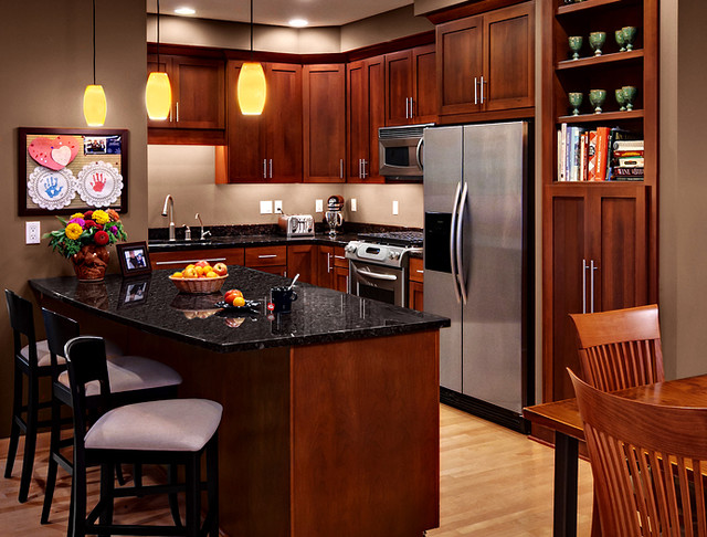Cherry Kitchen Cabinets Rockford Door Style CliqStudios