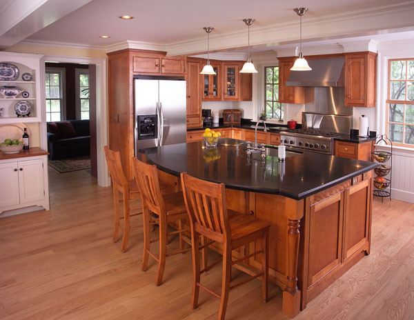 Cherry Kitchen - Traditional - Kitchen - bridgeport - by Home Interiors Designs