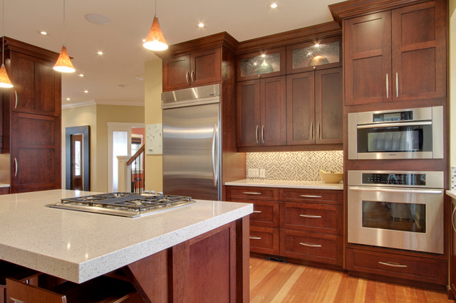 Cherry Kitchen - Traditional - Kitchen - Calgary - by NEXS ...