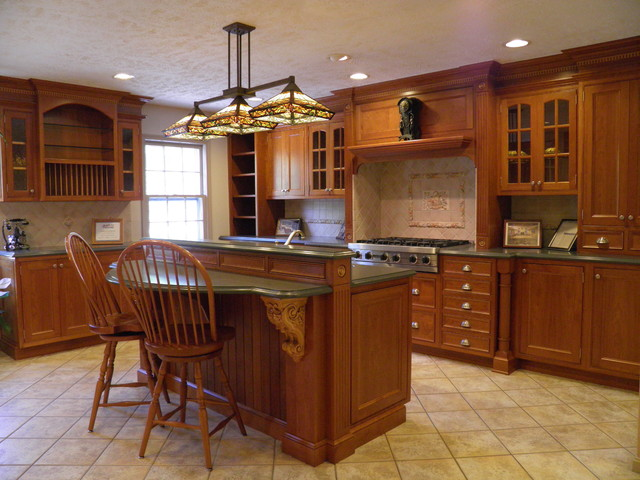 Cherry nutmeg kitchen 2 traditional kitchen dc metro for Traditional kitchen