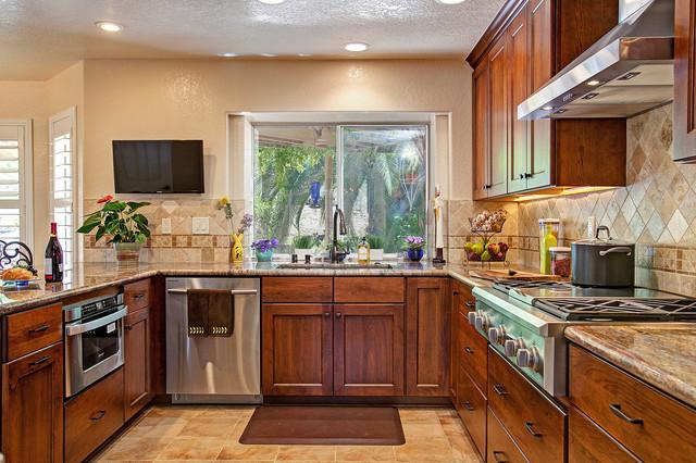 Cherry Onyx Kitchen rustic-kitchen