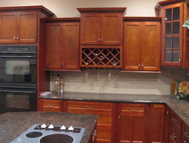 shaker style kitchen cabinets cherry 2