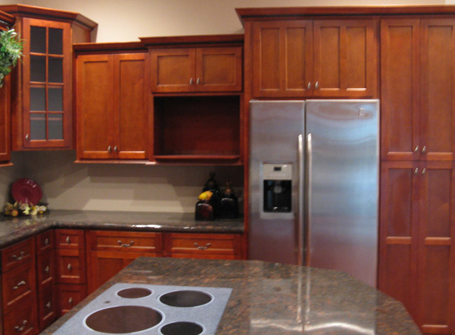 cherry shaker kitchen cabinets. Cherry Shaker Kitchen Cabinets Home Design Traditional-kitchen