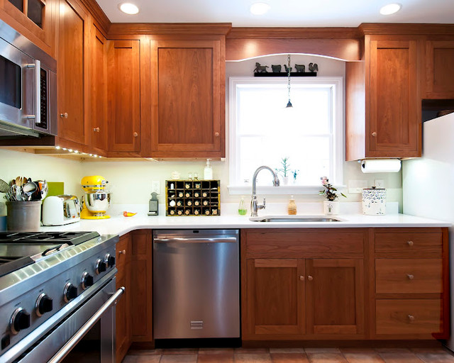 Cherry Shaker Style Kitchen - Traditional - boston - by ...
