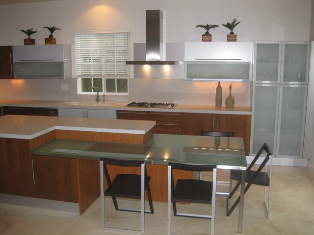 Modern Cherry Kitchen Cabinets cherry wood modern kitchen designs - modern - kitchen - san diego