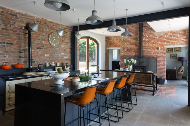 Cheshire Barn Industrial Kitchen London By Paul Craig Photography