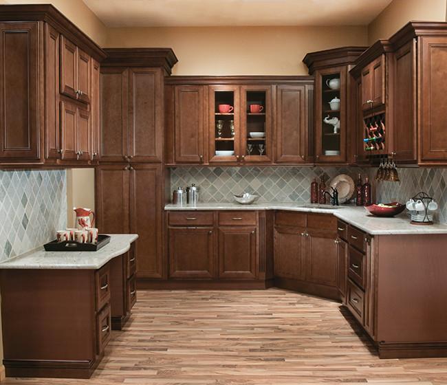 Chestnut Avalon Craftsman Kitchen Philadelphia By Solid Wood Cabinets Houzz