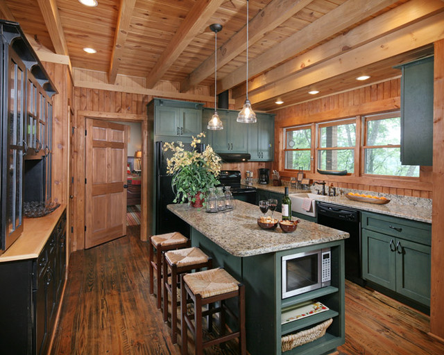 Chestnut Lodge - Traditional - Kitchen - atlanta - by Modern Rustic Homes