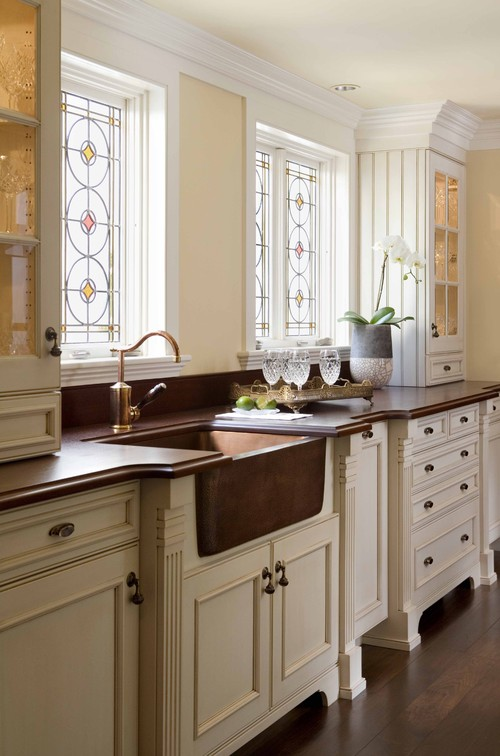 Where can i get the copper farmhouse sink from as i am for Kitchen cabinets houzz