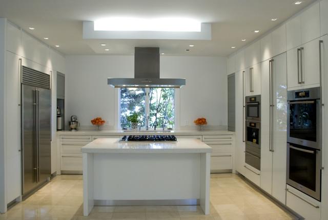 Chevy Chase, Modern, White modern-kitchen