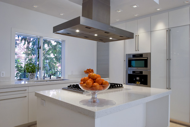 Chevy Chase, Modern, White modern-kitchen