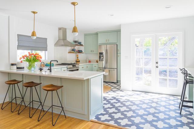 Chic Cottage Kitchen transitional-kitchen