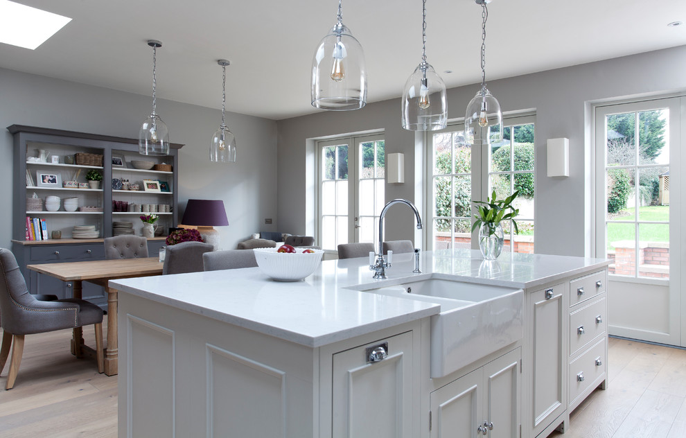 Chic White French Grey Kitchen Traditional Kitchen Dublin By Neptune By Global Village Houzz