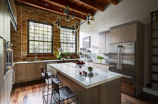 Chicago Industrial loft Kitchen. Designed by Fred Alsen of fma ...