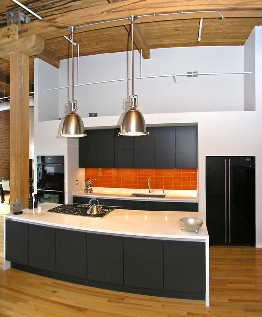 Chicago Penthouse Loft Remodel Contemporary Kitchen Chicago By Suidman Design Llc