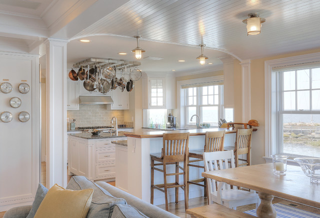 Chimney corner cottage beach style kitchen for Nautical kitchen designs
