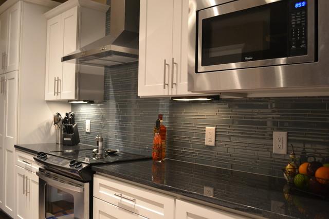 Chimney Smoke Linear Mosaic Tile Backsplashcontemporary Kitchen Vancouver