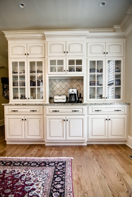 China Hutch with Painted Finish and Glazed Traditional  : traditional kitchen from www.houzz.com size 430 x 640 jpeg 108kB