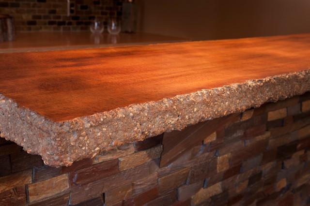 Concrete Countertop Edge Designs : Chiseled edge concrete countertops - Modern - Kitchen - Minneapolis ...