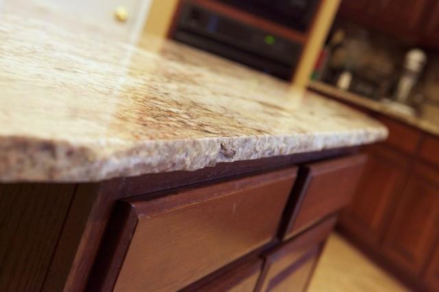 Chiseled Edge Granite Traditional Kitchen