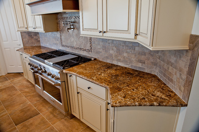 Chocolate Bordeaux Granite Traditional Kitchen DC