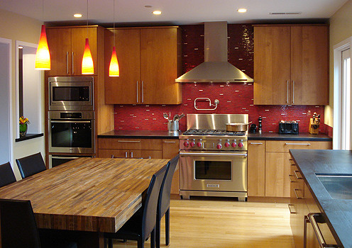 Your Kitchen Great Backsplashes For Wood Cabinets