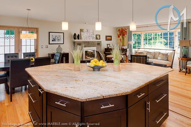 Cielo De Oro Granite Kitchen - Contemporary - Kitchen - New York ...
