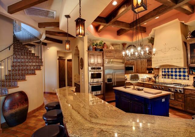 Cimarron hacienda for Spanish hacienda style kitchens