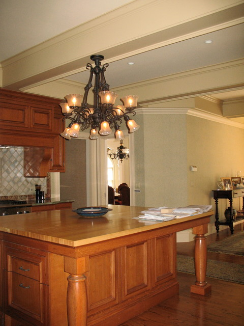 Circa 1880, Very large 6 & 6 Gas and Electric Chandelier traditional-kitchen